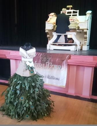 Wurlitzer and floral mannequin (created by Shipley College students).